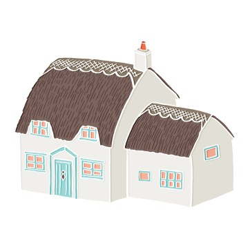 Little Cottage - hand-drawn and digitally coloured